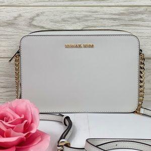 🌸 Michael Kors EW Crossbody Bag White